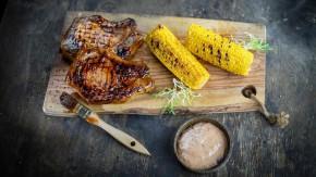 Steak z bravčového karé s údenou slivkovou majonézou