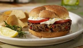 Vegetariánsky Hamburger s červenou fazuľou